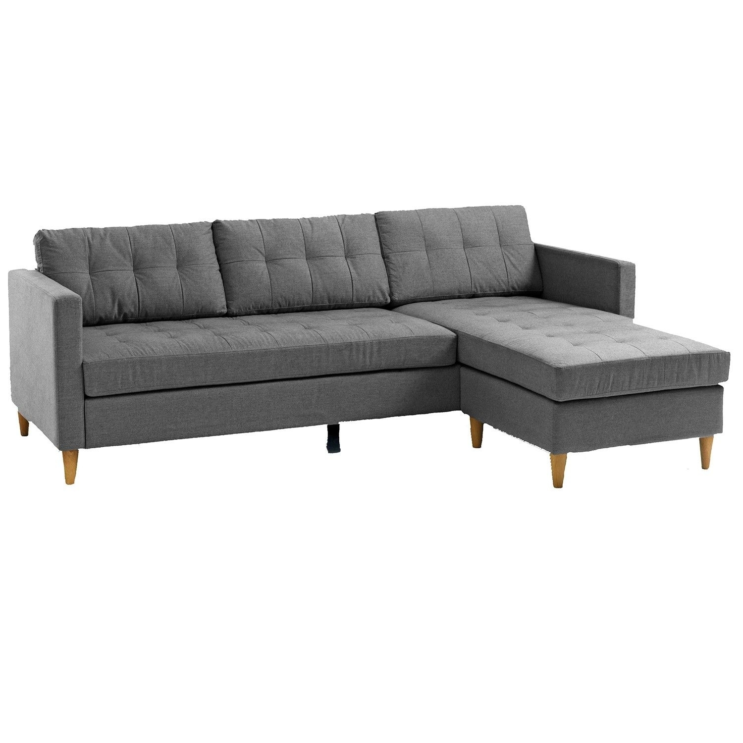 Falslev Sectional Sofa With Chaise (Grey) | Apartments, Living Rooms Within Jysk Sectional Sofas (Image 6 of 10)
