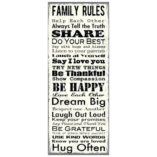 Family Canvas Wall Art Wall Art Cheap Large Wall Art Large Canvas With Canvas Wall Art Family Rules (Image 5 of 15)