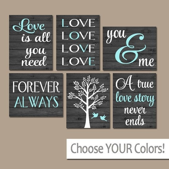 Family Wall Art, Canvas Or Prints Custom Love Story Quotes Art Regarding Custom Quote Canvas Wall Art (Image 8 of 15)