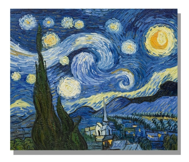 Famous Art Prints Masters Starry Night Vincent Van Gogh Abstract With Regard To Famous Art Framed Prints (View 2 of 15)