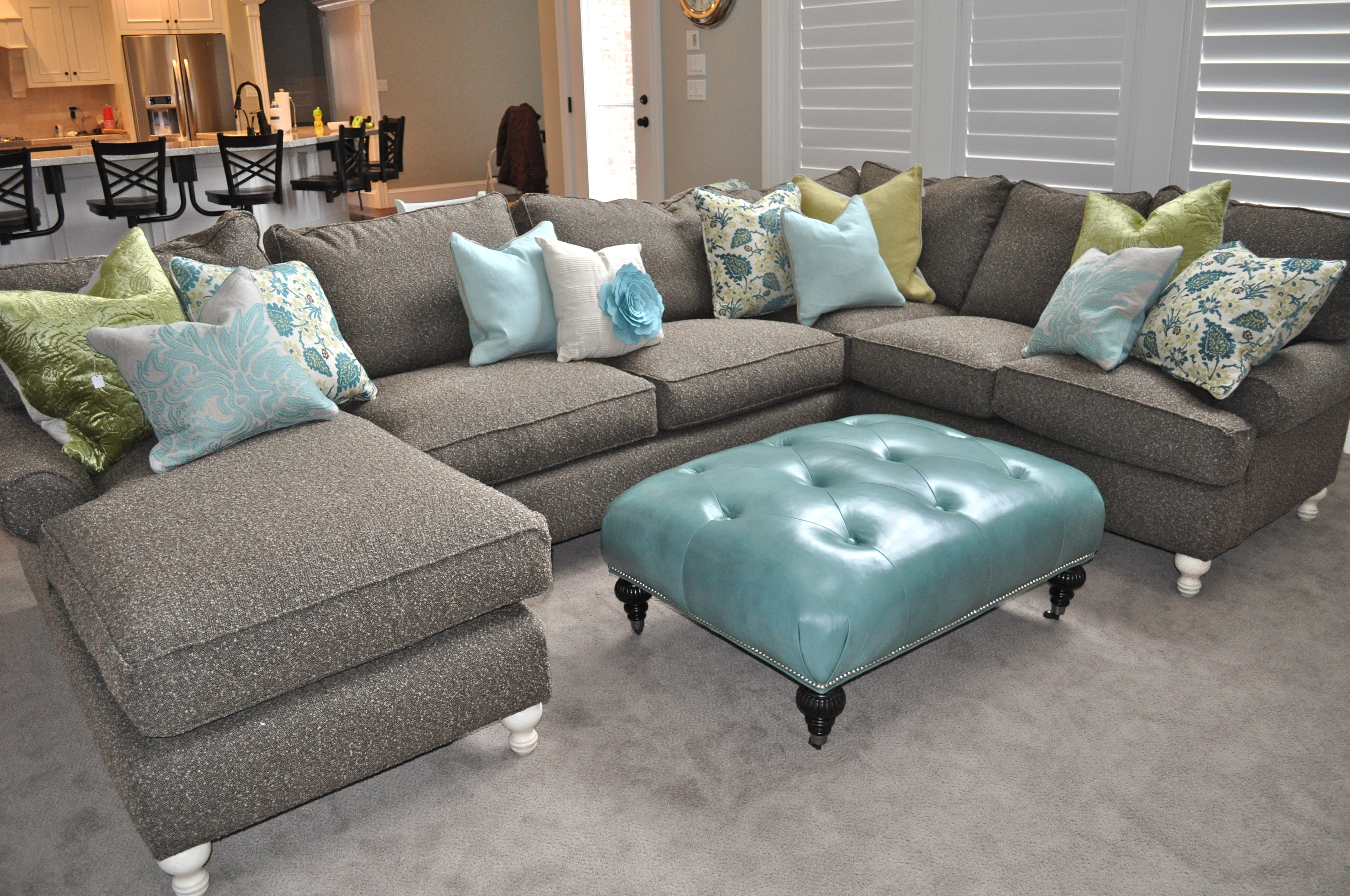 Fancy Green Sectional Sofa With Chaise 52 With Additional Faux With Green Sectional Sofas With Chaise (Image 4 of 10)