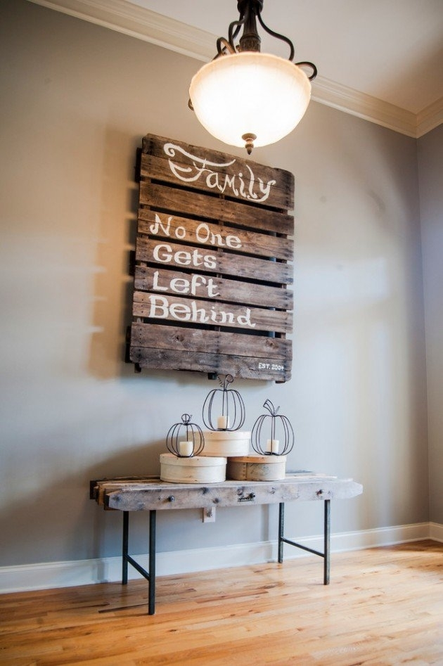 Fantastic Diy Pallets Wall Art Ideas With Regard To Wall Accents Made From Pallets (Image 11 of 15)