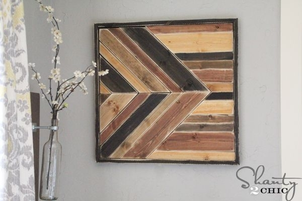 Fantastic Diy Pallets Wall Art Ideas With Regard To Wall Accents With Pallets (Image 10 of 15)