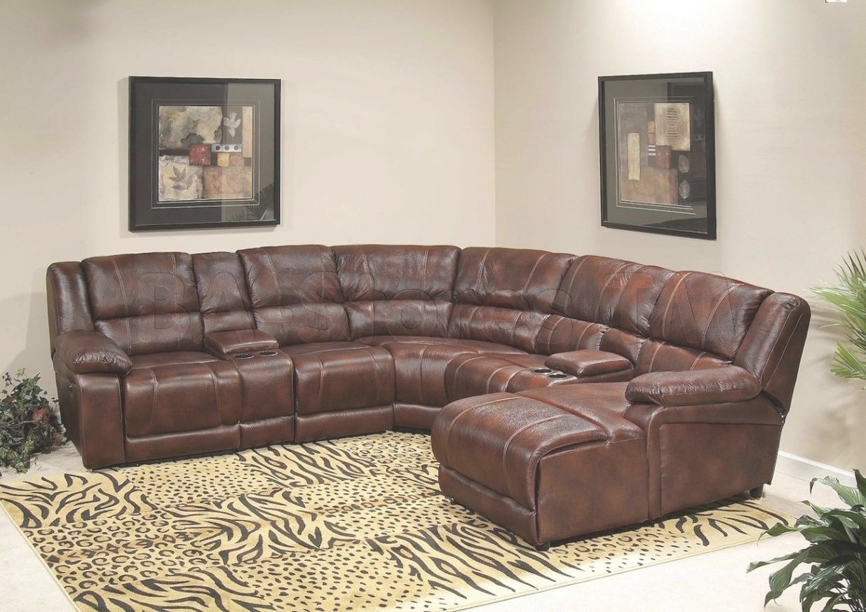 Fascinating Sectional Sleeper Sofa With Recliners Leather Image For Within Sectional Sofas With Recliners Leather (Image 5 of 10)