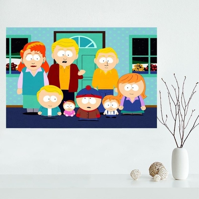 Fashion Classic Custom South Park Canvas Painting Poster Home Pertaining To Custom Fabric Wall Art (View 12 of 15)