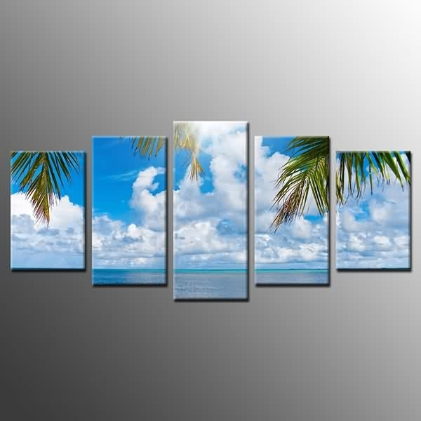 Fast Delivery For Canvas Prints Blue Sky White Clouds Wall Art Regarding Canvas Wall Art Of Philippines (View 10 of 15)