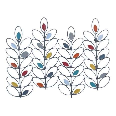 Featuring Colourful Metal Petals. This Abstract Leaf Wall Art with regard to Abstract Leaves Wall Art