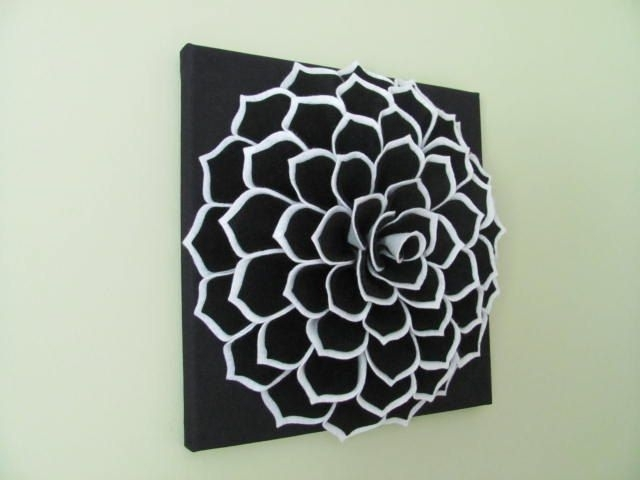 Felt Flower Wall Art Pattern Sophia Flower Fabricsewyoucantoo Pertaining To Fabric Flower Wall Art (Image 8 of 15)