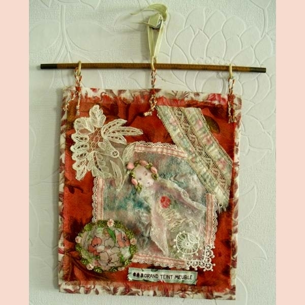 Feltissimo : Handmade Vintage Fabric And Felted Wall Hanging (View 10 of 15)