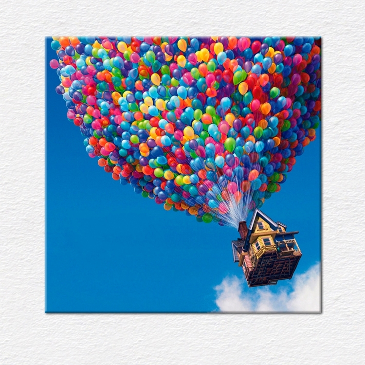 "Film Canvas Pictures | Flying House From Pixar's 'up' ""movie For Movies Canvas Wall Art (View 5 of 15)"