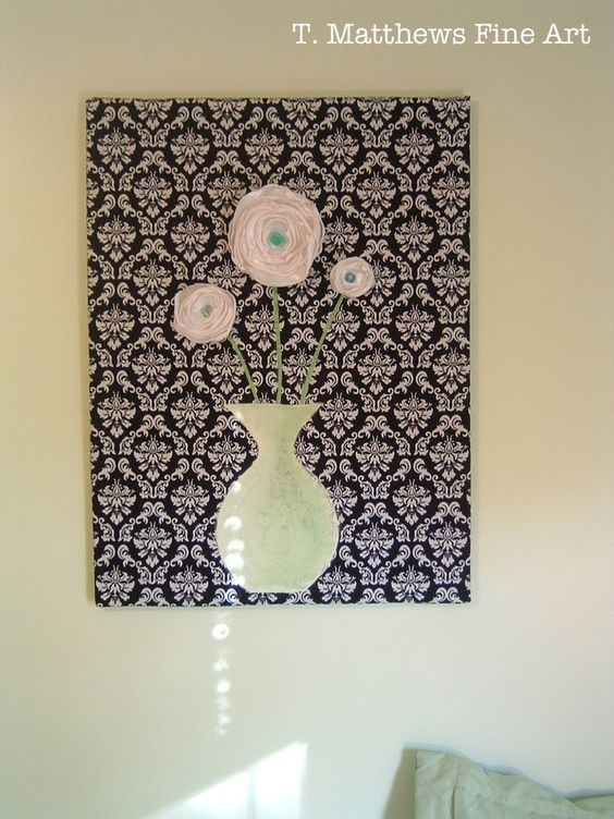 Fine Art: Fabric Wall Hanging – (Sort Of) A Tutorial | Wall Art Inside Fabric Wall Art Letters (Image 10 of 15)