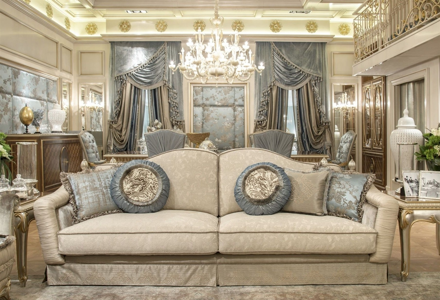 Fine Fabrics Highlight This Extraordinary Hand Made Luxury Sofa (Image 2 of 10)