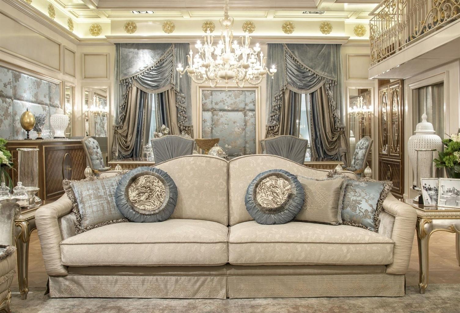 Fine Fabrics Highlight This Extraordinary Hand Made Luxury Sofa (Image 2 of 10)
