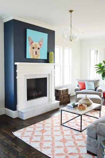 Fireplace Accent Wall Color – Best Image Voixmag Regarding Wall Accents For Fireplace (View 3 of 15)