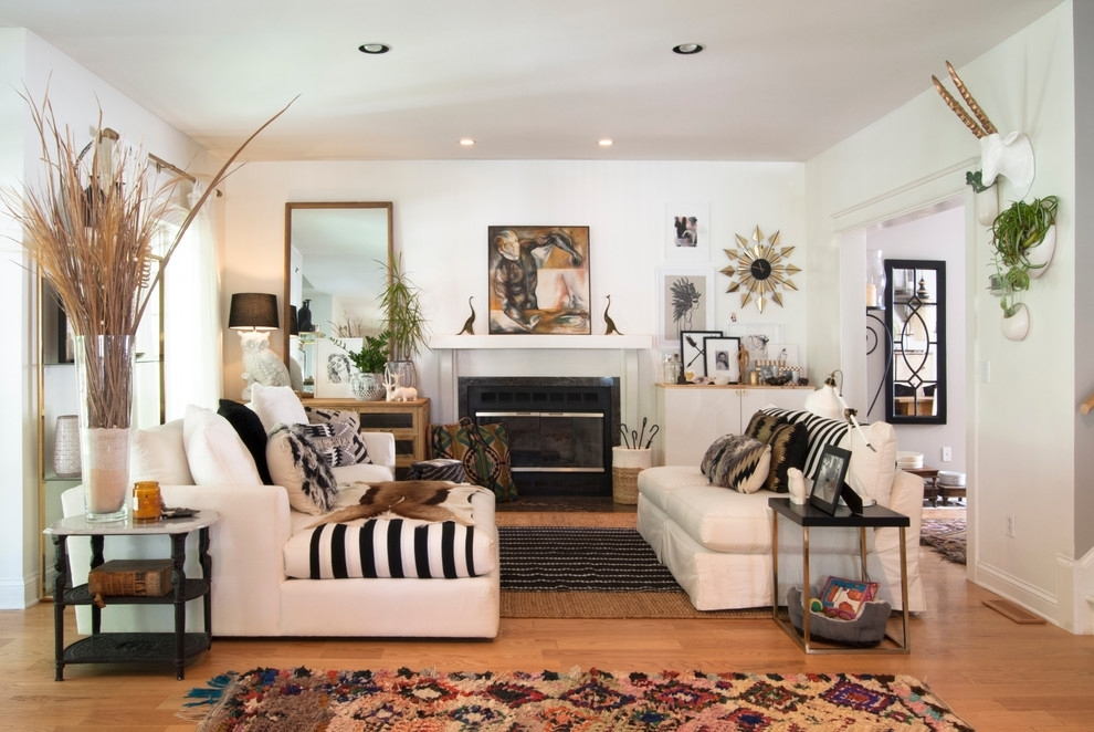Fireplace Wall Decor Living Room Eclectic With Black White Black With Fireplace Wall Accents (View 8 of 15)