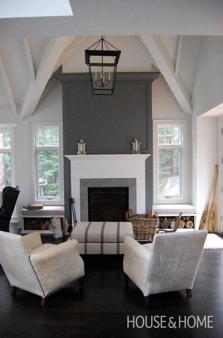Fireplace With Bench Seating Inspiration   Firewood Storage With Regard To Wall Accents Over Fireplace (Image 8 of 15)