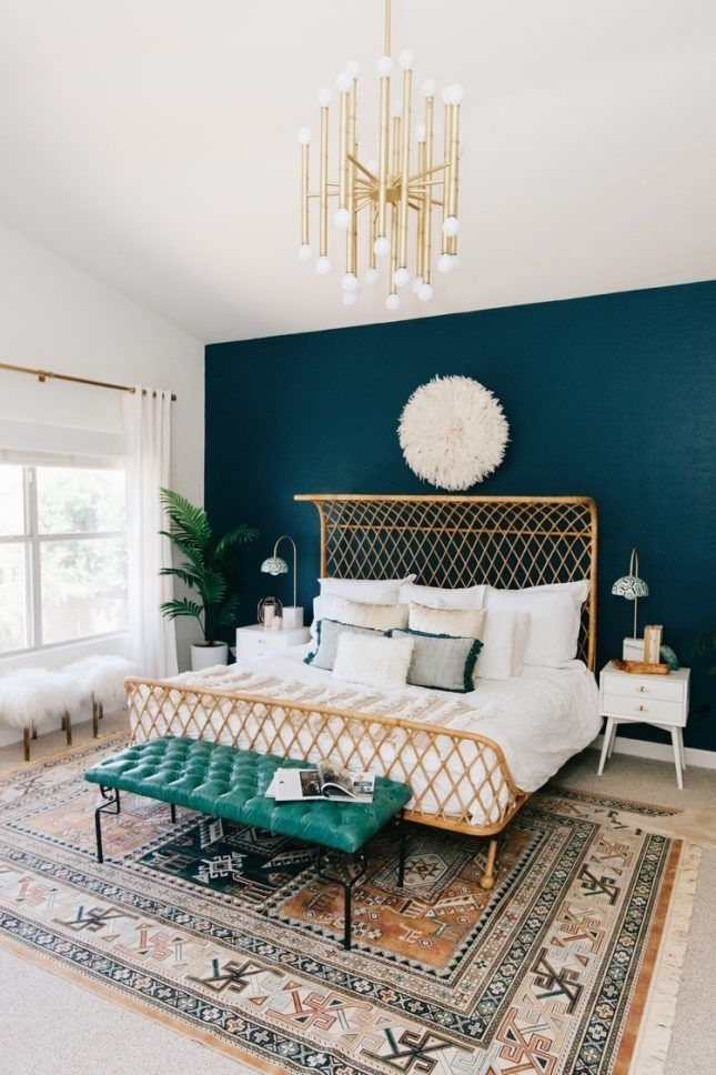 Five Trending Paint Colors To Try This Fall | Trending Paint Regarding Blue Wall Accents (Image 13 of 15)