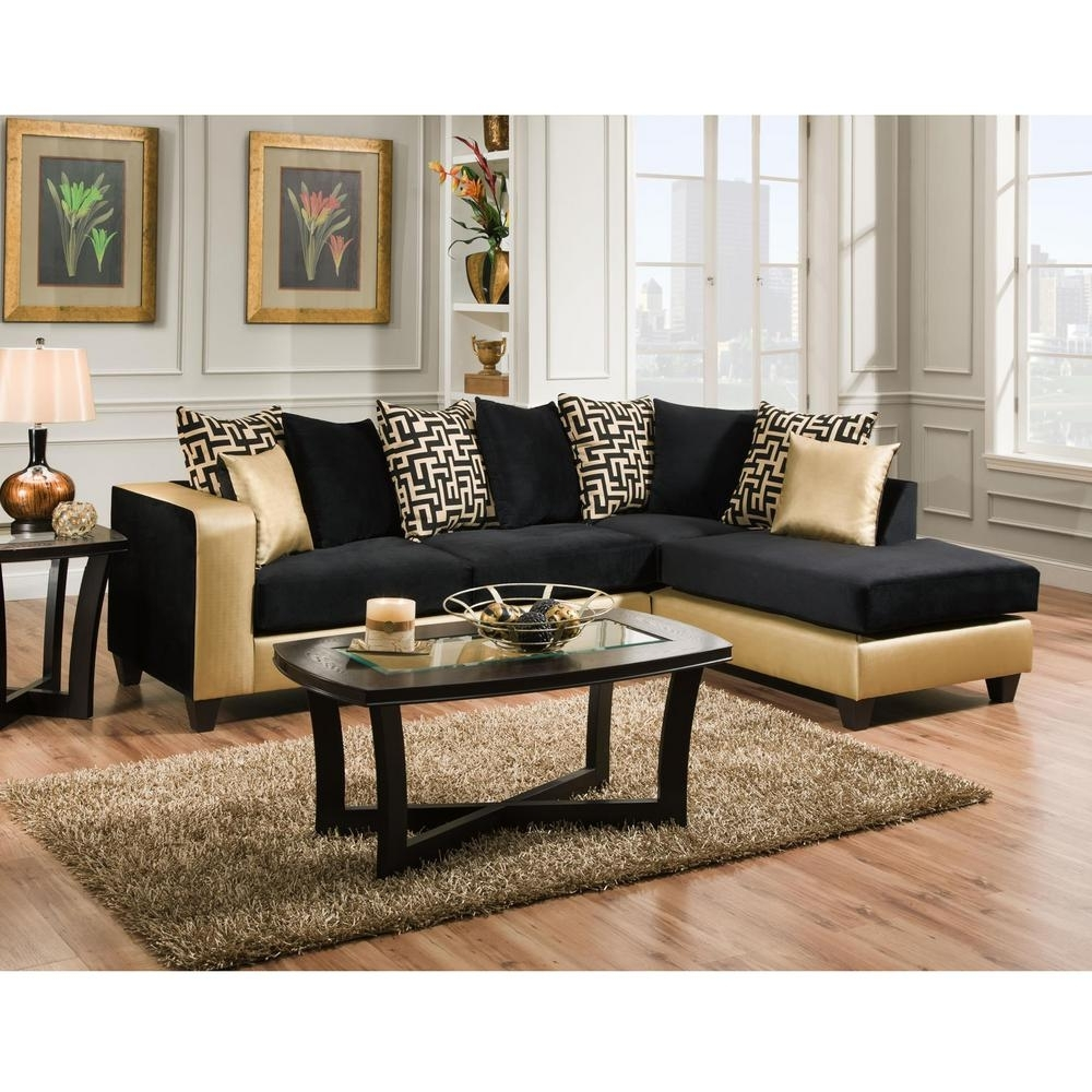 Flash Furniture Riverstone Implosion Black Velvet Sectional Intended For Home Depot Sectional Sofas (Image 4 of 10)