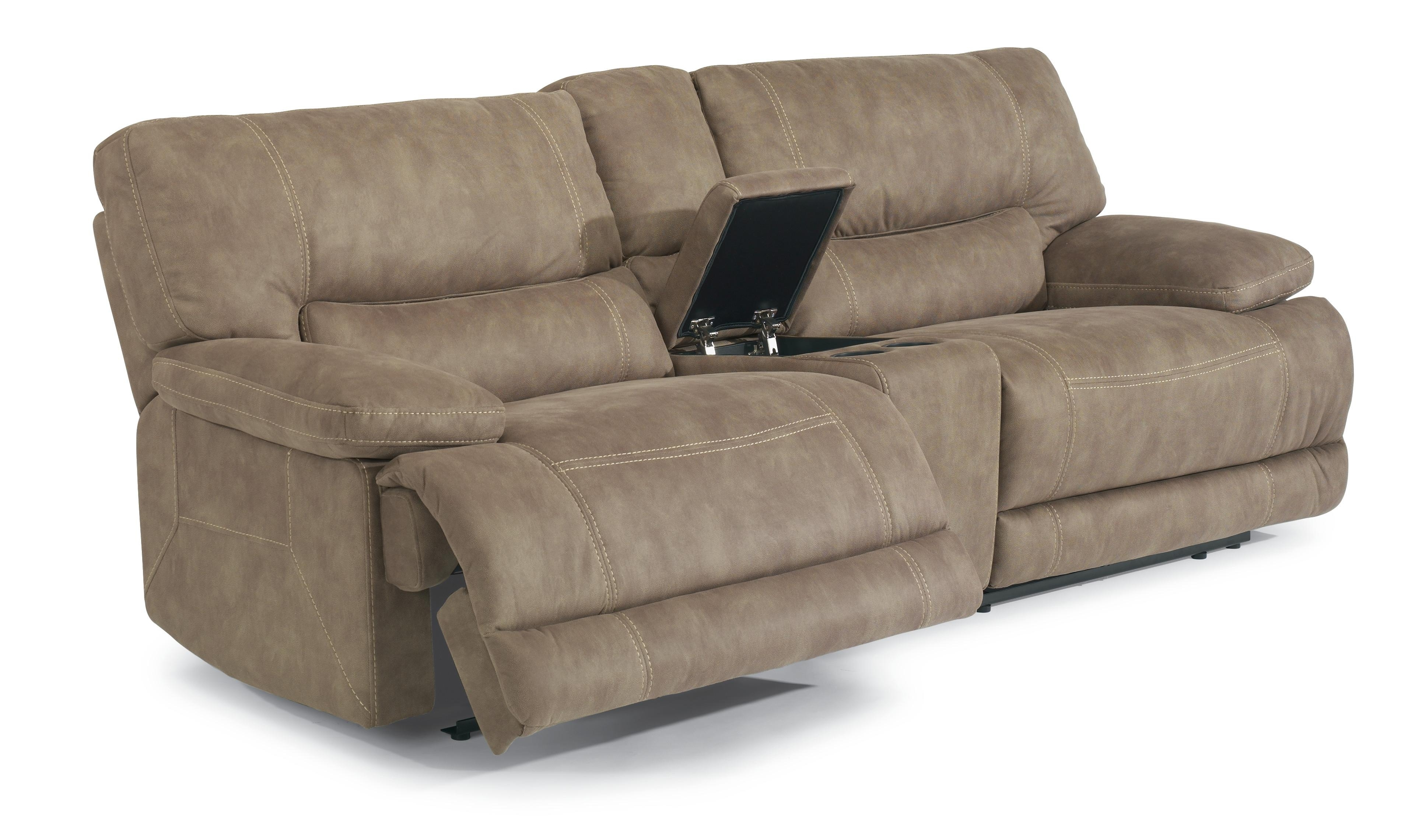Flexsteel Latitudes – Delia Power Reclining Sectional Sofa With Within Salt Lake City Sectional Sofas (Image 5 of 10)