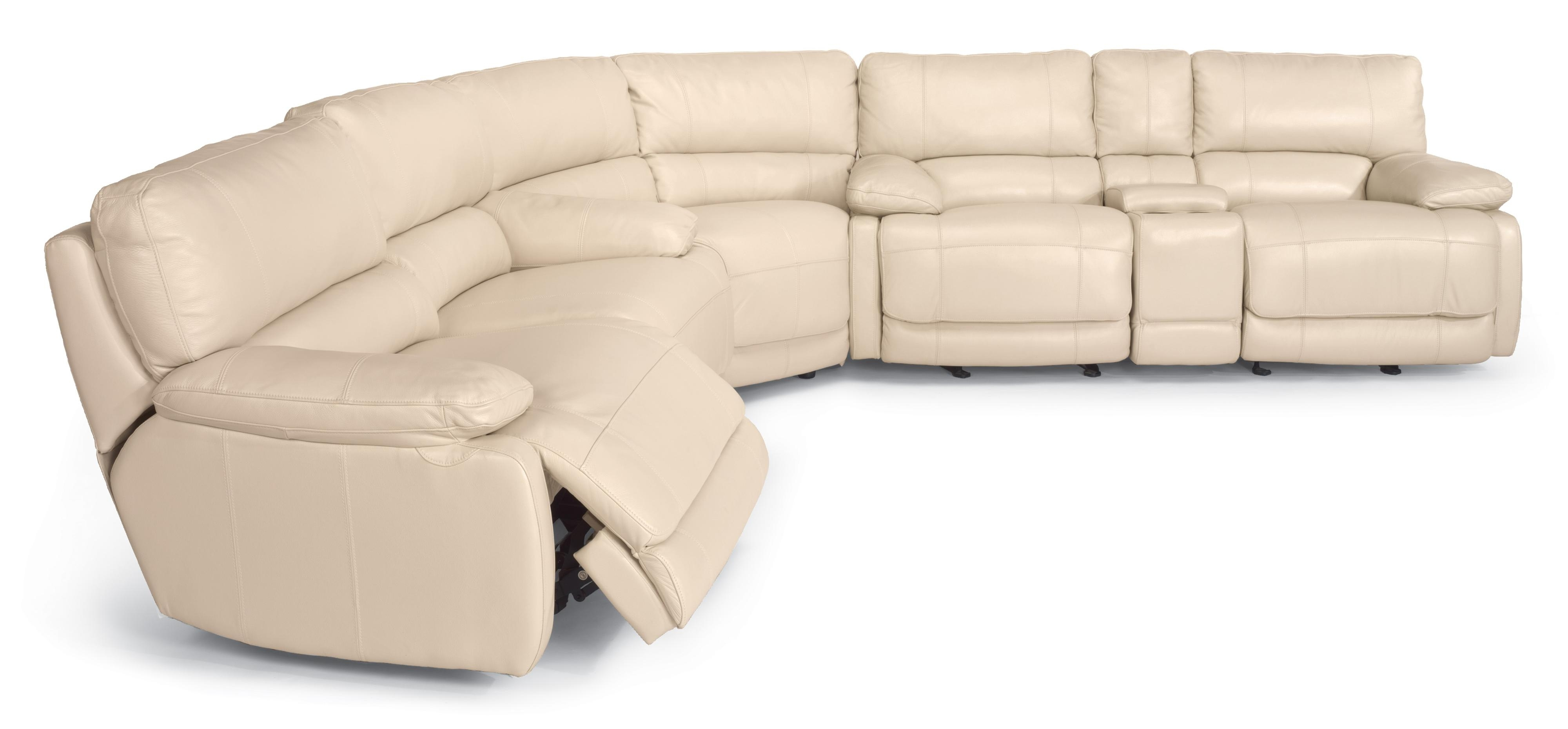 Flexsteel Latitudes – Hermosa Reclining Sectional Sofa – Ahfa With Kansas City Mo Sectional Sofas (Image 4 of 10)