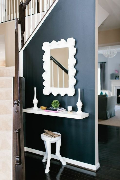 Floating Console Table – Contemporary – Entrance/foyer – Jws Interiors Within Entrance Wall Accents (View 2 of 15)