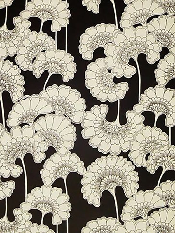 Florence Broadhurst – Japanese Floral Black White Wallpaper Intended For Florence Broadhurst Fabric Wall Art (Image 8 of 15)
