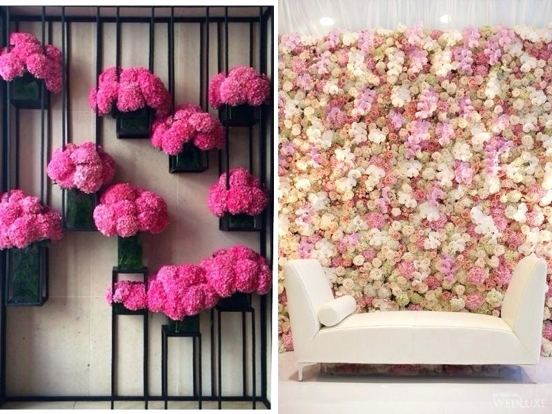 Flower Wall Decorations Wedding Wall Decoration Ideas Amazing Best With Flowers Wall Accents (Image 5 of 15)