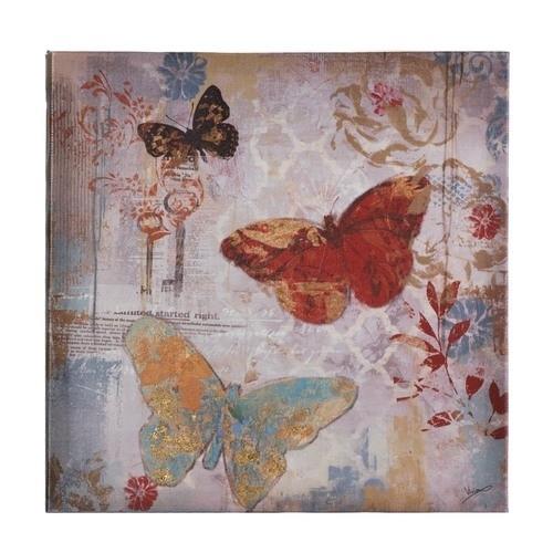 Flying Butterflies Canvas Print Wall Art | Classic Hostess Regarding Butterflies Canvas Wall Art (Image 7 of 15)