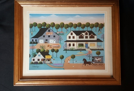 Folk Art Framed Prints Colleen Sgroi Collectionorange In Framed Folk Art Prints (View 5 of 15)