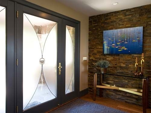 Foyer Wall Decorating Ideas | Stone Wall Foyer For Contemporary Within Entrance Wall Accents (View 7 of 15)