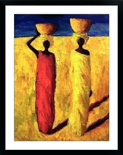 Framed African American Wall Art – Boyintransit Inside Framed African American Art Prints (Image 10 of 15)