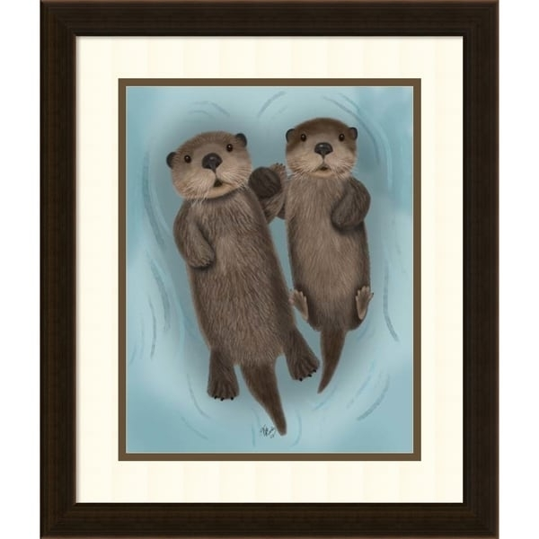 Framed Art Print 'otters Holding Hands'fab Funky 17 X 20 Inch Regarding Funky Art Framed Prints (Image 9 of 15)
