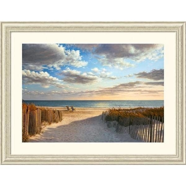 Framed Art Print 'sunset Beach'daniel Pollera 45 X 34 Inch Intended For Framed Beach Art Prints (View 5 of 15)