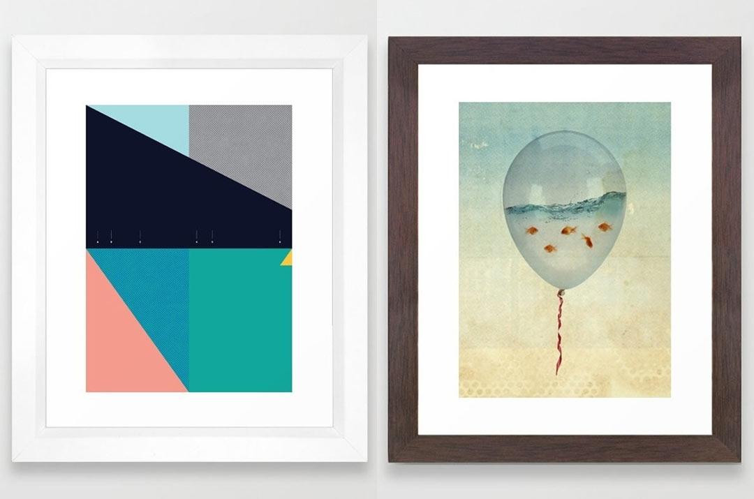 Framed Art Prints From Society6 – Design Milk For Framed Art Prints (View 4 of 15)