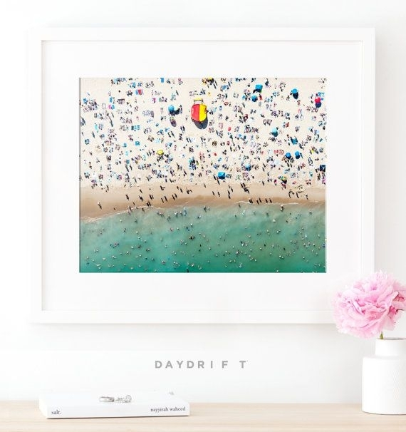 Framed Bondi Beach Photo Print // Aerial Beach Photography Pertaining To Framed Beach Art Prints (View 8 of 15)