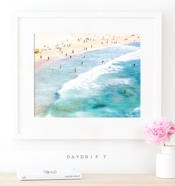 Framed Bondi Beach Photo Print // Aerial Beach Photography With Regard To Framed Beach Art Prints (View 3 of 15)