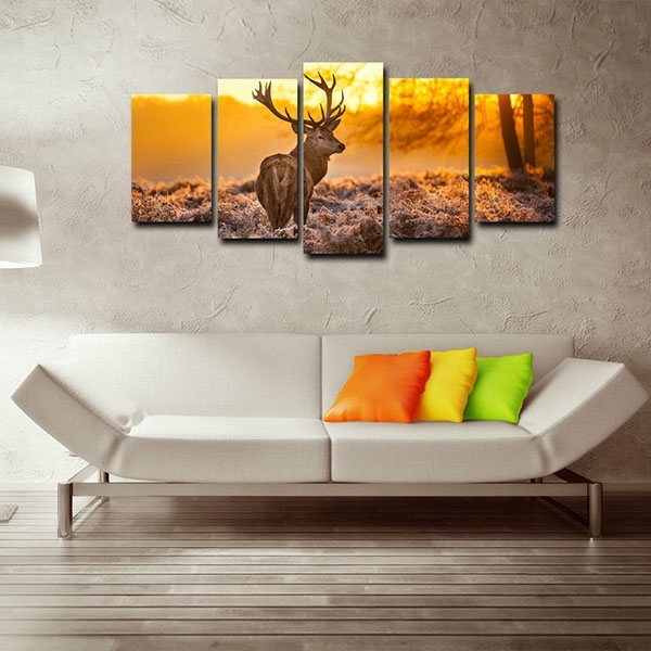 Framed Canvas Art Prints For Home Decor Red Deer Canvas Wall Art With Framed Canvas Art Prints (View 14 of 15)
