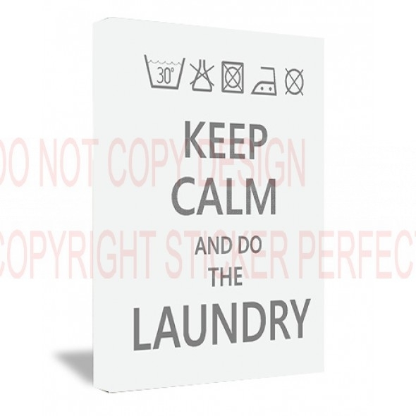 Framed Canvas Print #2 Keep Calm And Do The Laundry Funny Cute Regarding Keep Calm Canvas Wall Art (Image 6 of 15)