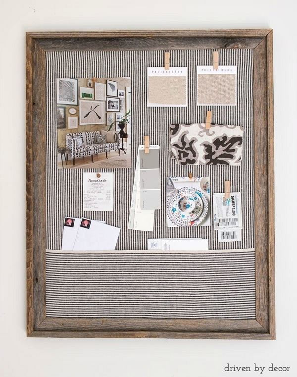 Framed Cork Bulletin Board – A Quick & Easy Diy | Drivendecor In Simple Fabric Wall Art (Image 10 of 15)