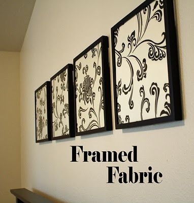 Framed Fabric  Cheap And Cute (Image 10 of 15)