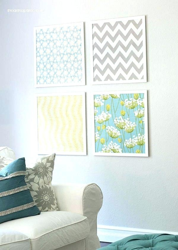 Framed Fabric Wall Art – Connectworkz (Image 6 of 15)