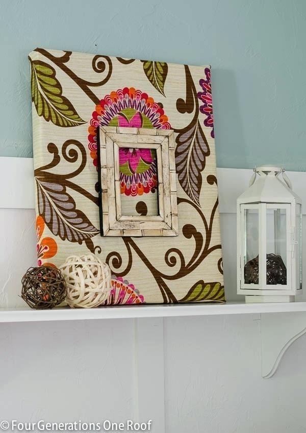 Framed Fabric Wall Art Diy Fabric Covered Wall Art Framed Fabric With Regard To Fabric Covered Squares Wall Art (Image 9 of 15)
