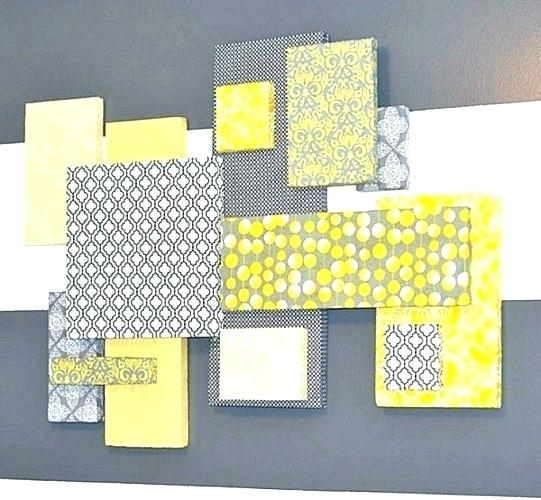Framed Fabric Wall Art Diy Fabric Wall Art Interior Design Schools Inside Fabric Covered Squares Wall Art (Image 10 of 15)