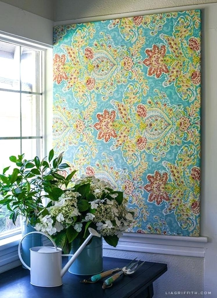 Framed Fabric Wall Art Diy Wall Fabric Decor Ideas About Fabric In Creative Fabric Wall Art (View 4 of 15)
