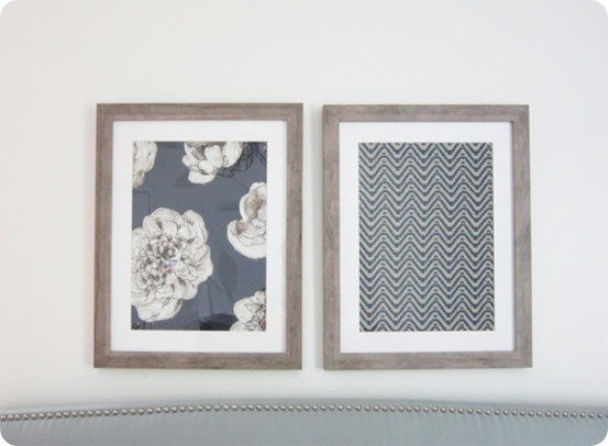 Framed Fabric Wall Art In Diy Large Fabric Wall Art (Image 8 of 15)