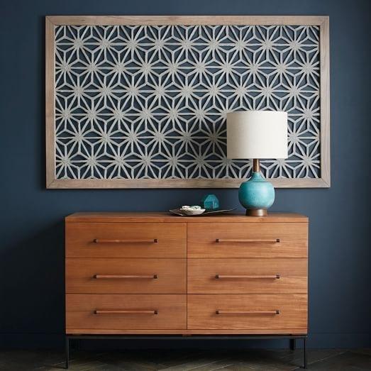 Framed Handmade Paper Wall Art – Gray Star | West Elm Inside Fabric Wall Art Frames (View 15 of 15)