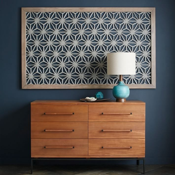 Framed Handmade Paper Wall Art – Gray Star | West Elm Within Fabric Square Wall Art (Image 5 of 15)