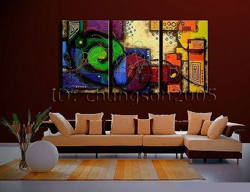 Framed! Modern Abstract Huge Art Oil Painting On Canvas For Sale Intended For Modern Abstract Huge Oil Painting Wall Art (View 7 of 15)