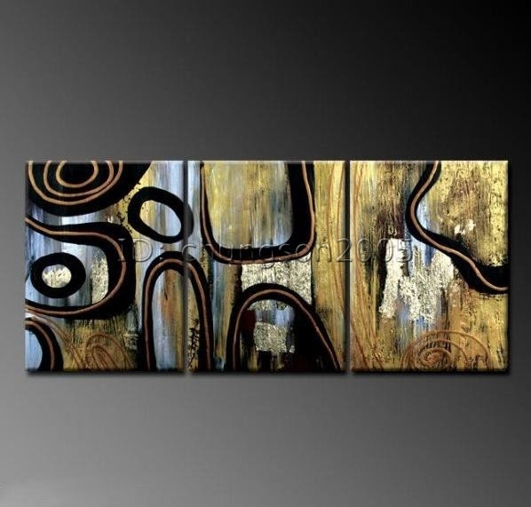 Featured Image of Modern Abstract Huge Oil Painting Wall Art