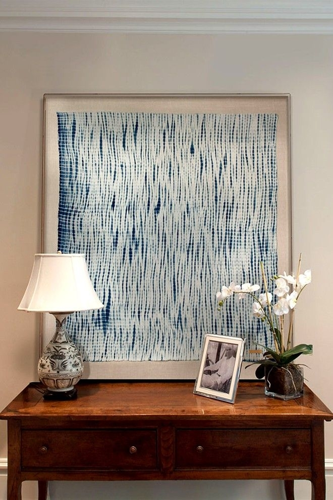 Framed Textiles As Art | J'adore | Pinterest | Walls, Living Rooms With Blue Fabric Wall Art (View 15 of 15)